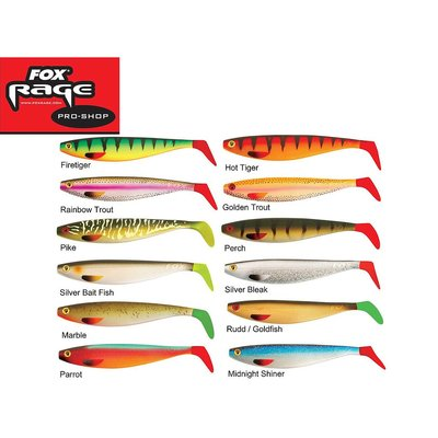 "Rage Pro Shad Natural Classic II 18cm / 7"" - Hot Tiger"