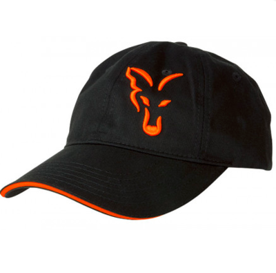 FOX BLACK & ORANGE TRUCKER CAP