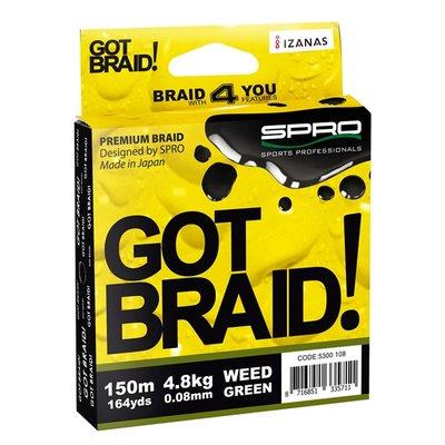 GOT BRAID Weed green 150m 4.8 kg 0.08mm