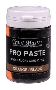 Trout Master Pro Paste Orange/ Black Glitter