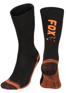 Fox Black / Orange Thermolite long sock 6 - 9 (Eu 40-43)